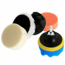 6pcs Polishing Buffing Pads Buffer Kit + Drill Adapter M10 for Auto Car Polisher