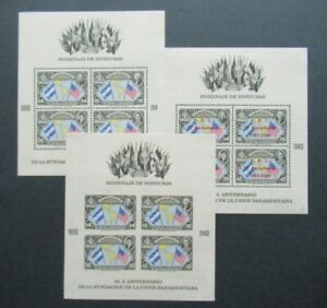 EARLY VF MLH SHEETS PERF. AND IMPERF. SURCHARGE UPU HONDURAS B423.45 START$0.99