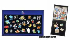 Disney Store Japan 25th Anniversary Pin Box Set of 2 (Keychain & Pins) Limited
