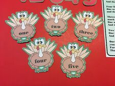 Five Little Turkeys - Flannel Felt Board Laminated Story and Pieces