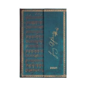 Agenda Paperblanks 2021 copertina rigida,12 mesi mini, Schubert Erlkönig