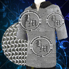 Medieval Aluminium Chainmail Shirt Butted LARGE Size Chain Mail Role Play Armour