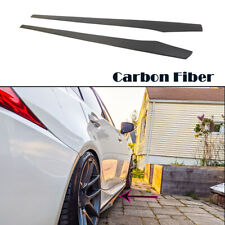 2PCS Two-sided Carbon Fiber Side Skirts For BMW F10 F20 F30 F32 Universal 205CM