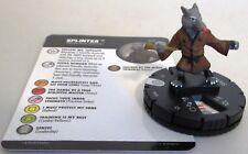 SPLINTER 025 Teenage Mutant Ninja Turtles 4 Unplugged TMNT IV HeroClix Rare