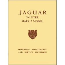 Jaguar Mk 2 Handbook 3.4 Litre Owners Manual MK II Service Maintenance Manual