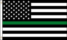 Thin Green Line American Flag 3x5 ft Park Ranger Game Warden Forest Border Guard