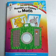 HOMEWORKBOOKS GOLD STAR EDITION, PUZZLES & GAMES FOR MATH, GRADE 2 (B12)
