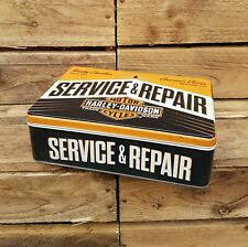 Harley Davidson service and repair flat rectangle Storage tin.Vintage look Tin