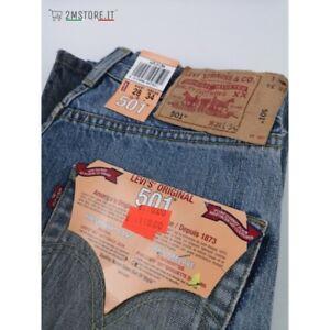 LEVI'S jeans LEVIS 501 WORKER Azzurro Effetto Vissuto Macchiato LIMITED EDITION