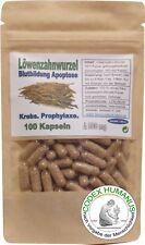100 Kapseln 500 mg Löwenzahnwurzel. KREBS GALLE  BLUTBILD  ABWEHRKRAFT  APOPTOSE