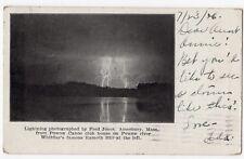 Vintage Postcard Lightning Fred Jones Amesbury Massachusetts MA Powow River 1906
