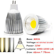 Ultra Bright MR16/GU10/E27/E14 Dimmable 6W/9W/12W LED COB Spot Light Bulbs CREE