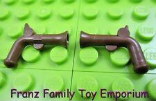 LEGO Minifig Weapon Lot of 2 Brown Pirate Flintlock Pistol Gun 6291 6292 6285