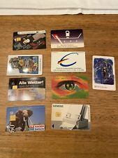 Bulk Lot of 9 German Phone Cards Deutshland Telefonkarte