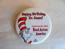 Vintage 2002 Happy Birthday Dr Seuss Cat in the Hat Pinback Button