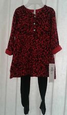 Guess Baby Girl Holiday Red Black Two Piece Dress New With Tags Size 18 Mo