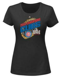 Cute! Majestic Chicago Cubs 2016 World Series Champions Women's Size Large _B120