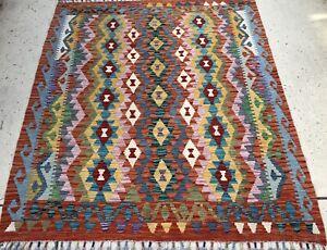 Afghan Maimana Kilim 167 X 190 Cm  Handmade Flat weave Rug Wool Rug Persian Rug