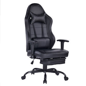 Gaming Computer Chair Home Adjustable Racing Fully Black Ergonomic Office Chair