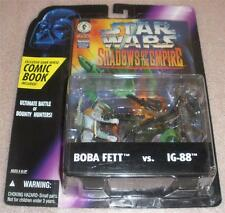 Star Wars Sote Boba Fett vs IG-88 with comic book MINT on card