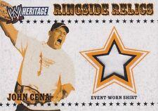 JOHN CENA 2005 Topps WWE Heritage Ringside Relics EVENT WORN T-SHIRT