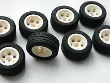 LEGO TECHNIC WHEELS set of 8 30.4x14mm VR Wheel Tire large tyre white