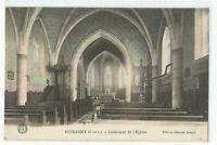 71 HURIGNY , INTERIEUR DE L' EGLISE