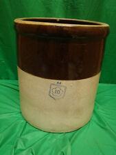 Antique 10 Gallon Mccoy M Clover In Diamond Stoneware Crock Pottery