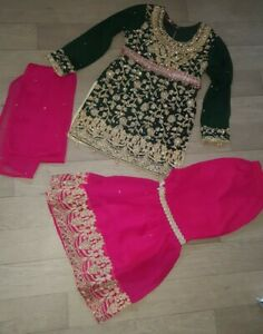 NEW Girls Lady Designer Simrans Anarkali Churidaar Salwar Kameez Sharara Size 34