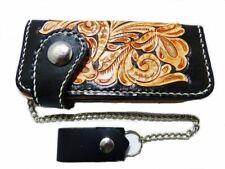 Brieftasche Wallet Geldbörse Geldbeutel echt Leder mit Kette Biker Trucker
