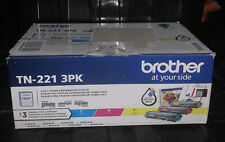Genuine Brother Standard-Yield Toner Cartridge Three Pack TN-221 3PK