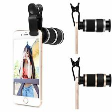 HD 8x Zoom Telescope Camera Lens Optical Clip for Universal iPhone Mobile Phone