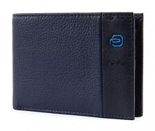 Piquadro Wallet P15 Male Leather Blue - Pu1392p15-blu3