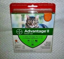 BrandNew Sealed Bayer Advantage II Flea & Lice Control Small Cats 5-9lbs 4 Doses