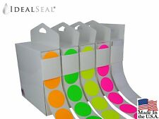 Color Coding Labels Super Bright Fluorescent Neon Yellow, Green, Orange,Pink