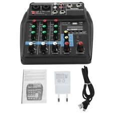 A4 4 Kanal Mic Audio Mischpult Mixer 3-Band Equalizer TRS / XLR Eingang for Live