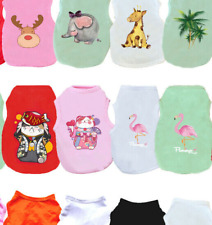 Dog Cat Clothes Cute Cartoon Printed Summer Pets T-shirt For Small Puppy Dog