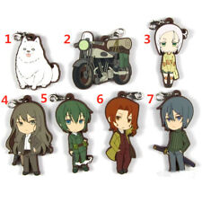 Anime Kino's Journey rubber Keychain Key Ring Race Straps cosplay