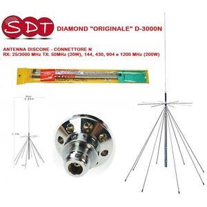 DIAMOND Original D-3000N Antenne Discone Rx: 25/3000 MHZ Tx : 50MHz (20W), 144
