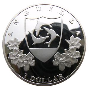 ANGUILLA - BRITISH CARIBBEAN 1 DOLLAR 2014 40mm PROOFLIKE 200PCS MADE