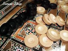 MASSIVHOLZ Backgammon Spielsteine ca. 32 mm. SEHR STABIL