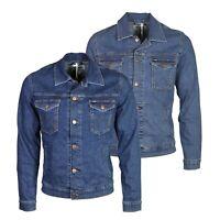 Wrangler Mens Regular Western Style Long Sleeve Vintage Jean Denim Jacket S-2XL
