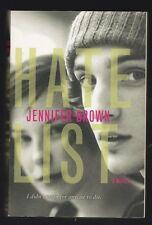Hate List by Jennifer Brown (2010, Paperback), Signed