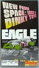 1974 DINKY TOYS EAGLE TRANSPORTER, SPACE 1999 Cardboard Easel-back Ad Piece