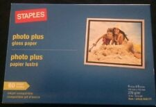 Staples Photo Plus Gloss Paper 4x6 - 60 Sheet -  NEW,