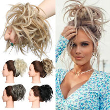 Large Tousled Messy Bun Hair Scrunchie Wrap On Pony Tail Hair Piece Extensions