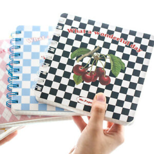 """""""Happy Day"""" Grid Papers Notepad Daily Planner Student Notebook Diary Journal"""
