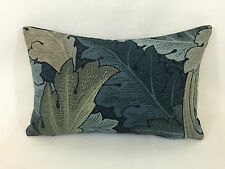 "William Morris Acanthus Tapestry Indigo/mineral Cushion Cover  18"" x 12"" Inc Pad"