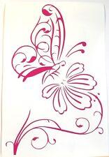 adesivo farfalla decal sticker vinile fiore sticker butterfly 500 fiat murale ok