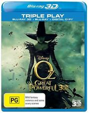 Oz - The Great And Powerful (Blu-ray 3D, 2013, ) Ex rental 3D only